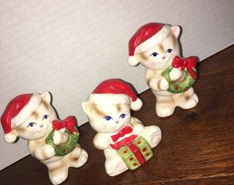 Ceramic Christmas Kitens