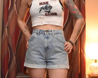 Vintage High-waisted Levi's Cuffed Shorts Size 5