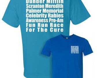 The Office Shirt, Dunder Mifflin T-Shirt, The Office TV Show, Meredith Rabies Awareness Fun Run Shirt, Unisex, Men's, Women's, Gym Shirt