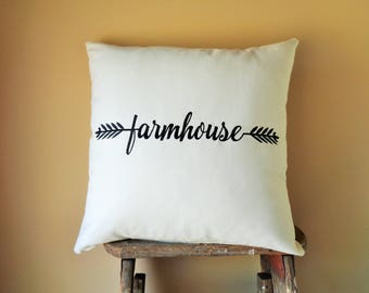 16x16 Pillow Cover, Modern Farmhouse Decor, Farmhouse Accent Pillows, Fixer Upper Decor, Magnolia Market Decor, Joanna Gaines Decor