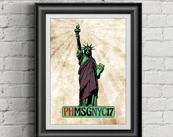 PHISH Inspired 11x14 Poster Print | NYC | MSG | 2017