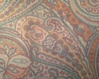 2 yards paisley tapestry fabric