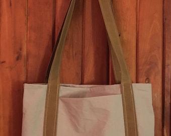 Tent Canvas/Beige Market Tote Bag