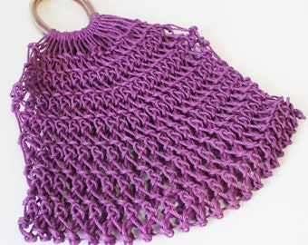 Vintage purle purse, vintage Handbag, summer purse, shopping bag, vintage fashion accessory, clutch purse, purple clutch bag