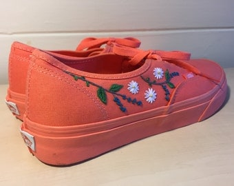 Custom Vans Embroidered Shoes