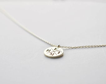 Circle Family Initial Necklace - Gold Initial Jewelry - Personalized Letter Necklace - Family Necklace - Bridesmaid Gift - Mother's Day Gift