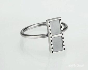 Sterling Silver Movie Film Ring Solid 925 Film Strip Ring Custom Sizes