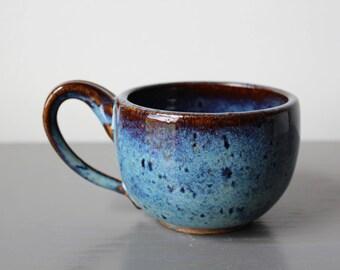 Ceramic Latte Mug Blue