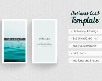 Light Green Travel Landscape Scenery Photography Business Card Template Minimalist, Simple And Clean Design