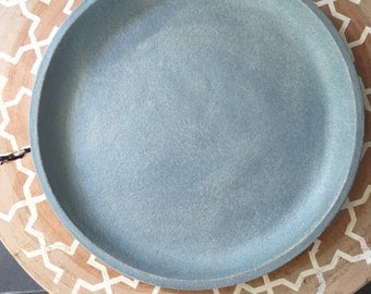 Blue Wash Look Small Dinner Plate
