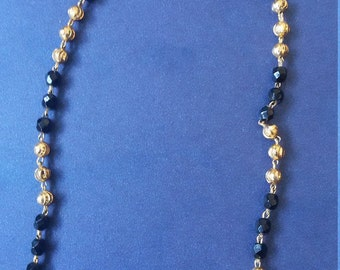 Gold and black Necklase