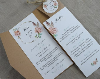 Pocket fold card - invitation to the wedding