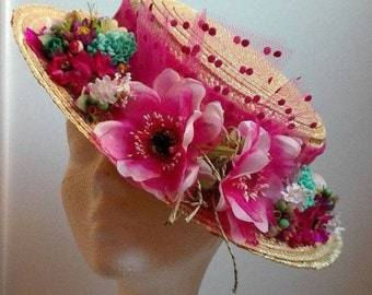 Hat Boater with flowers
