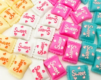 Candy Cabochons - Small (8 pcs) Kawaii Cabochons Resin Flat Back Cell Phone Deco