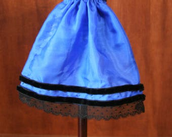 """Reproduction Antique Doll Fancy Silk Apron for 14"""" China Head Doll"""