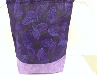 Project bag, knitting bag, crochet bag