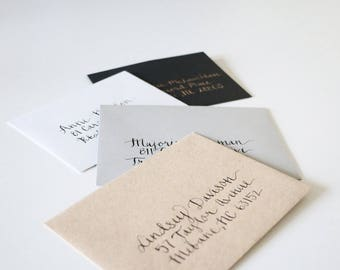 Hand-Lettered Envelope Addressing