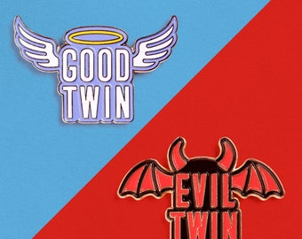 Good & Evil Enamel Pin 2-Pack
