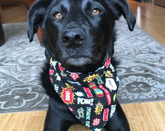 Superhero Dog Bandana - over collar bandana