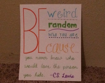 Be Yourself C.S. Lewis Quote Wall Art