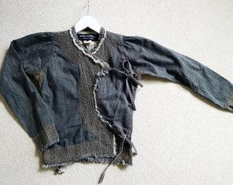 Vintage Comme des Garçons denim blouse by Junya Watanabe
