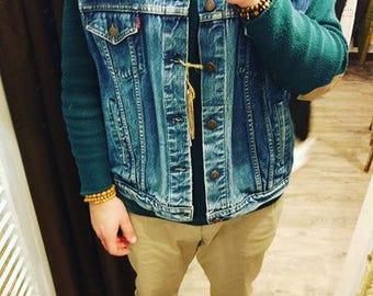 Original vintage Levis Jacket vest dark wash
