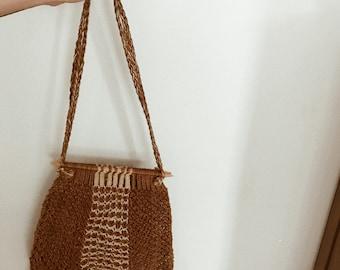 Vintage Woven Tote Bag
