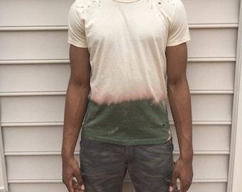H&M distressed dip-dye t shirt