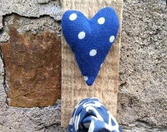 scottish dotty heart wall hook