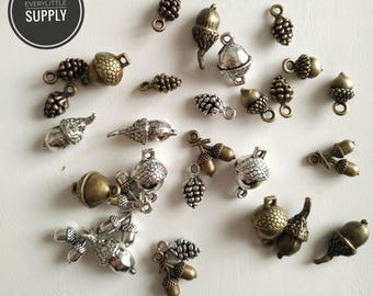 30pcs Charms pine cone handmade Craft pendant making fit,Vintage Pinecone Pineal charms