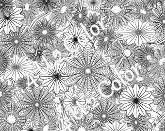 star flower garden 1 coloring page star flower garden coloring page