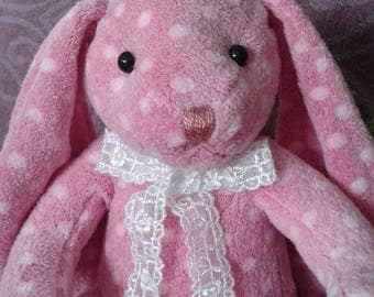 Soft toy soft curdly bunny for Easter and Baby shower