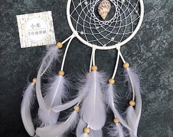 Ocean White Sea-shell Handmade Dreamcatcher