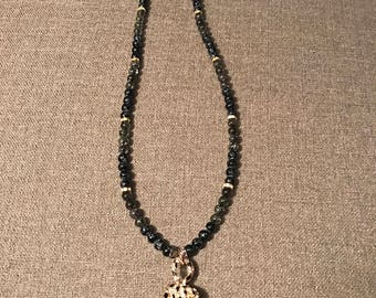 Small  beaded black and gold Leopard