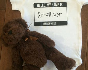 Hello My Name is PERSONALIZED