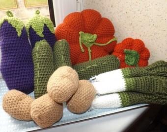 Set of vegetables to crochet