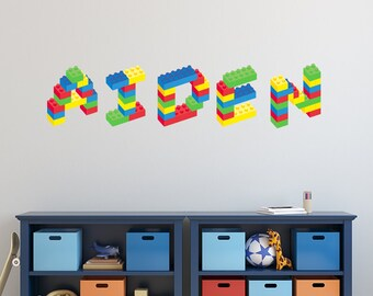 Handmade Wall Decals Etsy - Lego wall decals vinyl