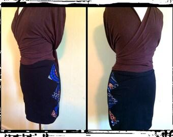 Triangle Stretchy Mini Skirt