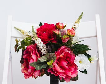 Ava Silk Flower Bridal Bouquet