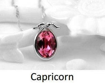 zodiac alloy crystal necklace - Capricorn