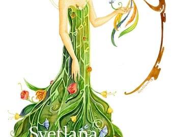 """Limited edition print of original painting by Svetlana Zhelyazkova """"Spring Morning Spirit"""""""