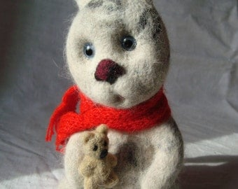 Needle felted, Rabbit, handmade, Cute rabbit, Easter bunny