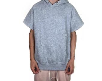 Short sleeve hoodie | Etsy