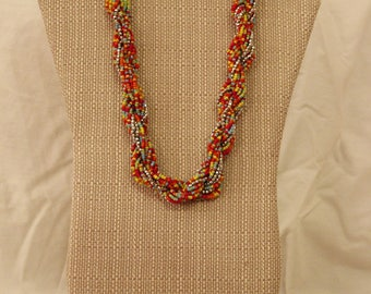 Ashanti Multi-Colored Necklace with Earings
