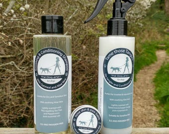 Handmade Conditioning Shampoo for Dogs - With Oatmeal and Aloe Vera. SLS & Paraben Free