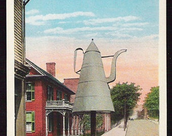 Huge Coffee Pot Postcard Winston Salem North Carolina Landmark NC PC