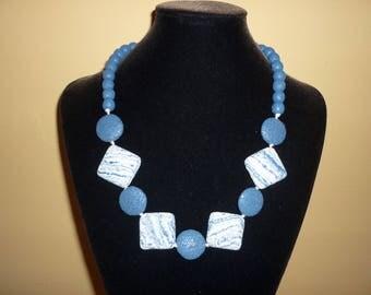 Blue lava necklace