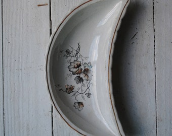 Vintage moon shaped dish