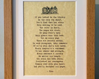"Original ""Read With Your Heart"" PoemsbyClou Print in Frame"