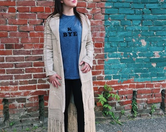STEVIE Nicks or Dixie CHICKS Corduroy Butterfly Duster // Small: Medium